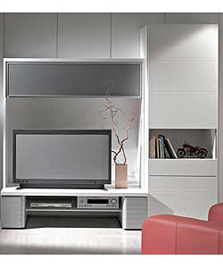10 solutions de rangement meuble tv manhattan de gautier. Black Bedroom Furniture Sets. Home Design Ideas
