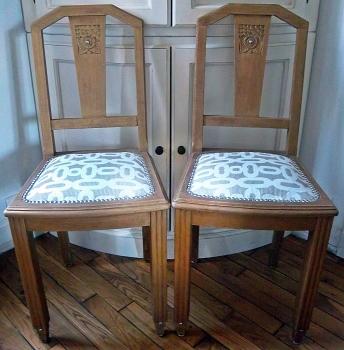 Relooker des chaises ann es 1940 s 39 envoler et ne plus penser - Relooker des chaises ...