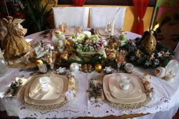 Et si on invitait les anges notre table de no l for Service de table pour noel