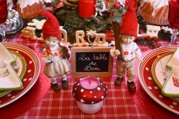 Table de no l une d co gourmande dans l 39 esprit alsacien - Decoration de noel alsacienne ...