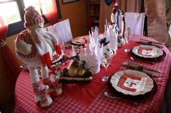 Une d co de table avec des bonshommes de neige for Presentation de table de noel
