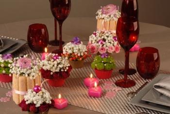 Une d co florale pour une table gourmande for Centre de table gourmandise