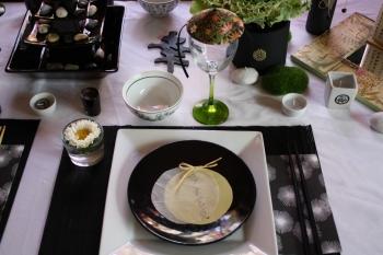 une d co de table zen. Black Bedroom Furniture Sets. Home Design Ideas