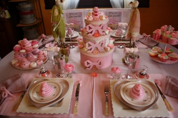 D co de table sweet table pour go ter d 39 anniversaire - Decoration cupcake anniversaire ...