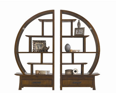10 objets tendance asie biblioth que ronde angkor de la maison coloniale. Black Bedroom Furniture Sets. Home Design Ideas
