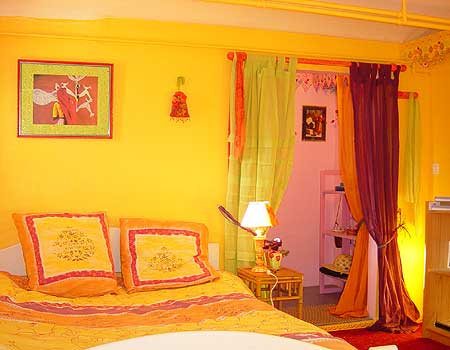 D coration chambre orange jaune for Quelle couleur associer a l orange