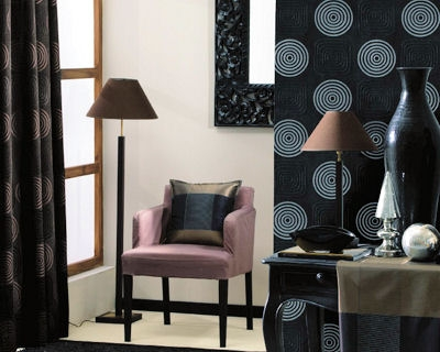 papier peint galets noir d 39 heytens. Black Bedroom Furniture Sets. Home Design Ideas